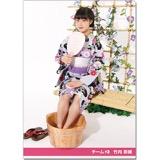 SKE48 2016年9月度個別グッズ「クリアファイル(浴衣Ver.)」 竹内彩姫