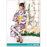SKE48 2016年9月度個別グッズ「クリアファイル(浴衣Ver.)」 鎌田菜月