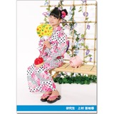 SKE48 2016年9月度個別グッズ「クリアファイル(浴衣Ver.)」 上村亜柚香