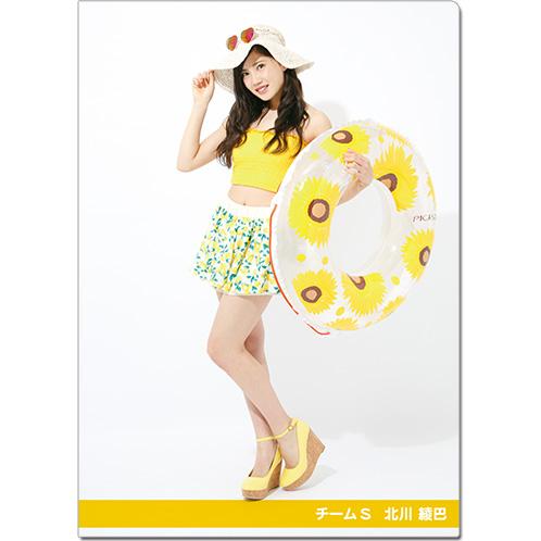 SKE48 2016年9月度個別グッズ「クリアファイル(サマーバケーションVer.)」 北川綾巴