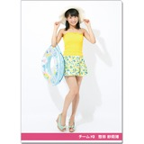 SKE48 2016年9月度個別グッズ「クリアファイル(サマーバケーションVer.)」 惣田紗莉渚