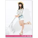 SKE48 2016年9月度個別グッズ「クリアファイル(サマーバケーションVer.)」 竹内彩姫