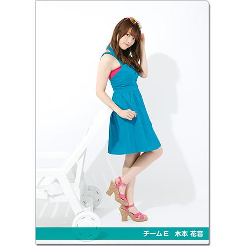 SKE48 2016年9月度個別グッズ「クリアファイル(サマーバケーションVer.)」 木本花音