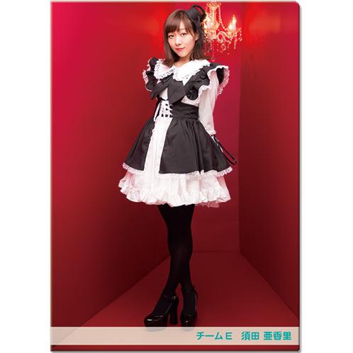 SKE48 2016年11月度個別グッズ「クリアファイル(ハロウィンIIVer.)」 須田亜香里