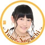 SKE48 2015年11月度個別グッズ「デカ缶バッジ」 野口由芽