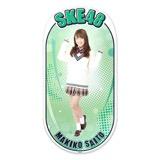 SKE48 2015年12月度個別グッズ「両面ステッカー」 斉藤真木子