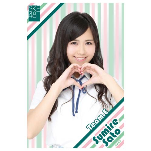 SKE48 2015年9月度個別グッズ「クリアポストカード」 佐藤すみれ