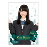 SKE48 2013年12月個別グッズ 「クリアポスター」 松井玲奈