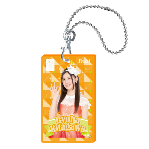 SKE48 2015年10月度個別グッズ「クリアパスケース」 北川綾巴