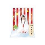SKE48 2016年1月度個別グッズ「アクリルスタンド 巫女ver.」 浅井裕華