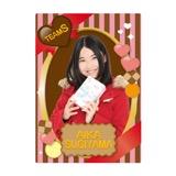 SKE48 2016年2月度個別グッズ「下敷き(バレンタイン)」 杉山愛佳
