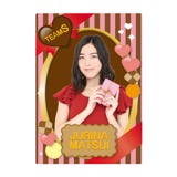 SKE48 2016年2月度個別グッズ「下敷き(バレンタイン)」 松井珠理奈