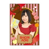 SKE48 2016年2月度個別グッズ「下敷き(バレンタイン)」 青木詩織