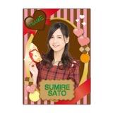 SKE48 2016年2月度個別グッズ「下敷き(バレンタイン)」 佐藤すみれ