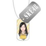 SKE48 2016年3月度個別グッズ「スライドドッグタグ」 松井珠理奈