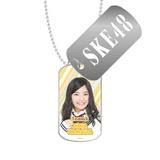 SKE48 2016年3月度個別グッズ「スライドドッグタグ」 山田樹奈