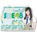 SKE48 2016年9月度個別グッズ「チェーン付きアクリルプレート」 菅原茉椰