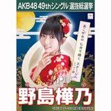 【6月中旬より順次配送】AKB48 49thシングル選抜総選挙 選挙ポスター 野島樺乃