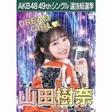 【6月中旬より順次配送】AKB48 49thシングル選抜総選挙 選挙ポスター 山田樹奈