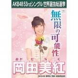 【6月下旬より順次配送】AKB48 53rdシングル 世界選抜総選挙 選挙ポスター 岡田美紅