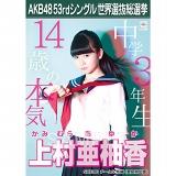 【6月下旬より順次配送】AKB48 53rdシングル 世界選抜総選挙 選挙ポスター 上村亜柚香