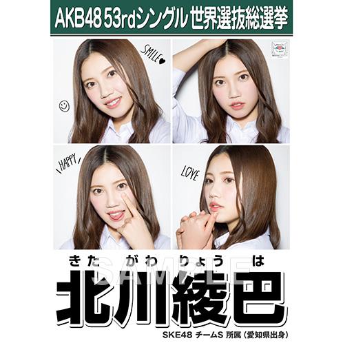 【6月下旬より順次配送】AKB48 53rdシングル 世界選抜総選挙 選挙ポスター 北川綾巴