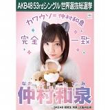 【6月下旬より順次配送】AKB48 53rdシングル 世界選抜総選挙 選挙ポスター 仲村和泉