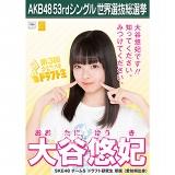 【6月下旬より順次配送】AKB48 53rdシングル 世界選抜総選挙 選挙ポスター 大谷悠妃