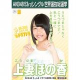 【6月下旬より順次配送】AKB48 53rdシングル 世界選抜総選挙 選挙ポスター 上妻ほの香