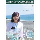 【6月下旬より順次配送】AKB48 53rdシングル 世界選抜総選挙 選挙ポスター 青木詩織