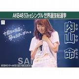 【6月下旬より順次配送】AKB48 53rdシングル 世界選抜総選挙 選挙ポスター 内山命