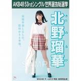 【6月下旬より順次配送】AKB48 53rdシングル 世界選抜総選挙 選挙ポスター 北野瑠華