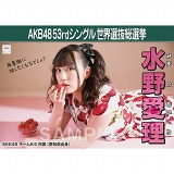 【6月下旬より順次配送】AKB48 53rdシングル 世界選抜総選挙 選挙ポスター 水野愛理