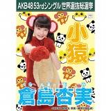 【6月下旬より順次配送】AKB48 53rdシングル 世界選抜総選挙 選挙ポスター 倉島杏実