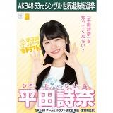 【6月下旬より順次配送】AKB48 53rdシングル 世界選抜総選挙 選挙ポスター 平田詩奈