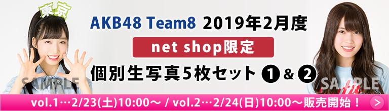 AKB48 チーム8 2019年2月度 net shop限定個別生写真5枚セット