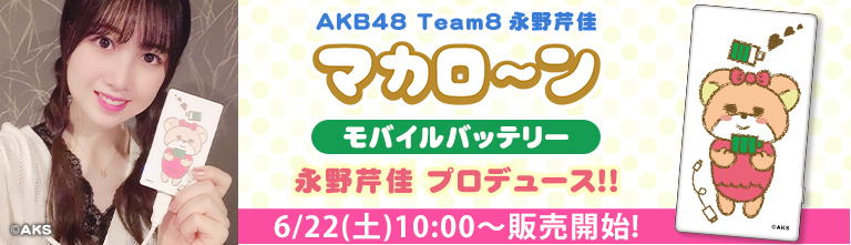 Team8 永野芹佳 マカロ~ン モバイルバッテリー