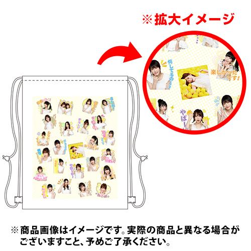 AKB48 MUSICスタンプ 総柄ナップサック